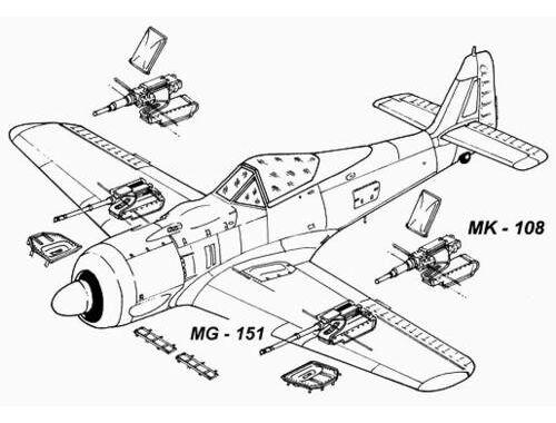 CMK Fw 190 A - armament set for TAM 1:48 (4034)