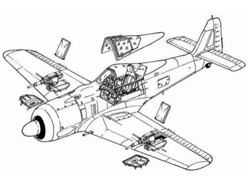 CMK Ramjäger - conversion set for Fw 190 F8 TAM 1:48 (4039)