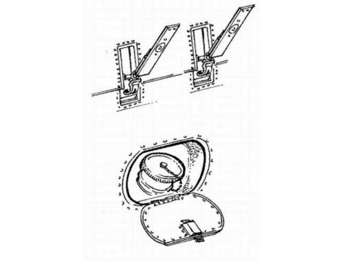 CMK German accesories - hatches and locks 1:48 (4046)