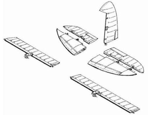 CMK D3A-1 - control surfaces set for HAS 1:48 (4054)