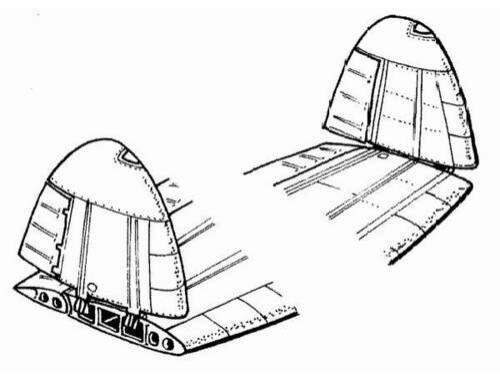 CMK D3A-1 - wing folding set for HAS 1:48 (4055)