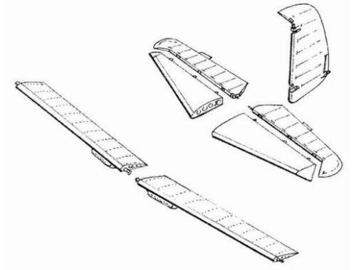 CMK Bf-109E - control surfaces set for TAM 1:48 (4057)