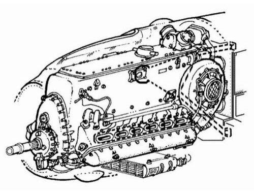 CMK Bf-109E - engine set for TAM (DB-601A/B) 1:48 (4058)