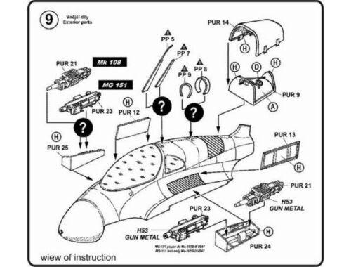 CMK Me-163B - detail set for REV 1:48 (4071)