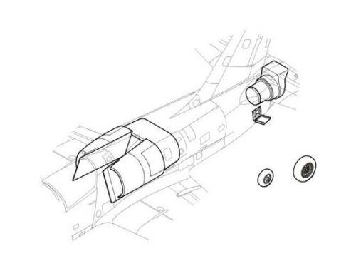 CMK L-39C - air intake set for MPM 1:48 (4084)