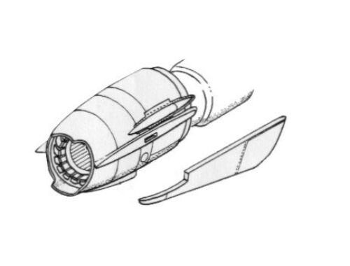 CMK MiG-21 - engine set for ACA 1:48 (4091)