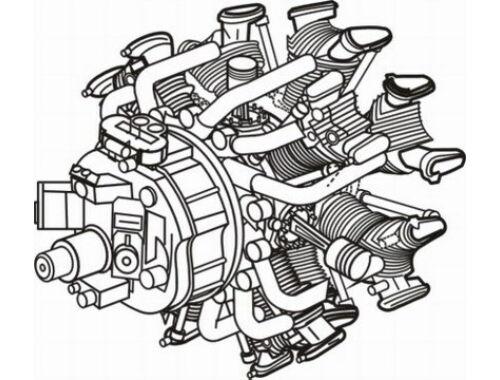 CMK Nakajima Sakae - Japanese engine 1:48 (4097)