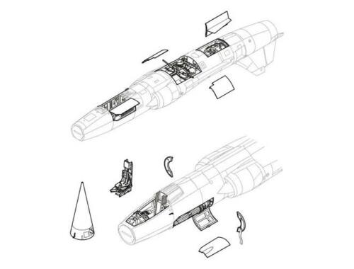 CMK F-104 - detail set for HAS 1:48 (4099)