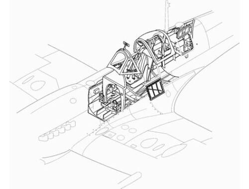 CMK Spitfire Mk.IX - interior set for HAS 1:48 (4103)