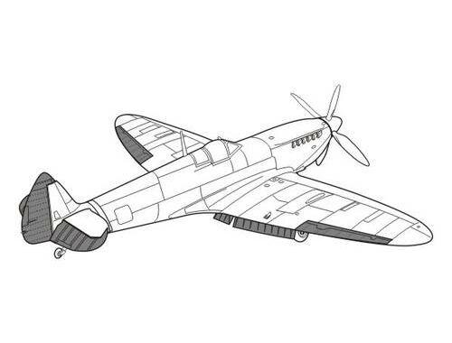 CMK Spitfire Mk.IX - exterior set for HAS 1:48 (4104)
