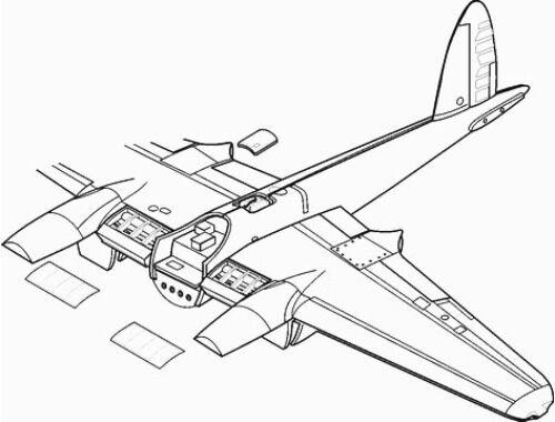 CMK Mosquito Mk.IV/VI - exterior set for TAM 1:48 (4106)