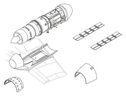 CMK Me 262A - engine set for TAM (Jumo 004) 1:48 (4115)