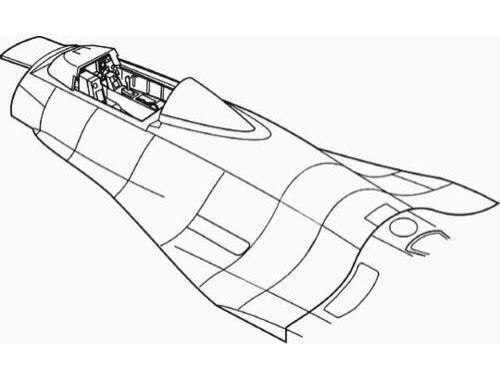 CMK F - 16A - interior set for HAS 1:48 (4117)