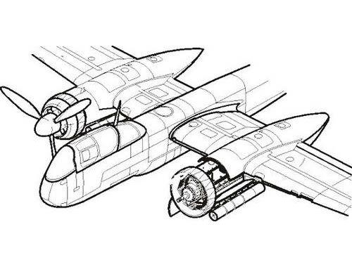 CMK He 219A Uhu - engine set (DB - 603) for TAM 1:48 (4128)