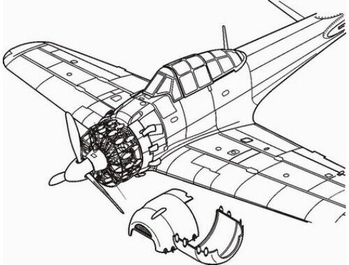 CMK A6M5 Zero - engine set for HAS 1:48 (4131)