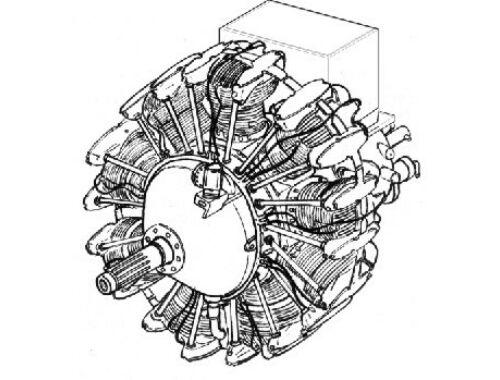 CMK Wright R 1820 - American radial engine 1:48 (4133)