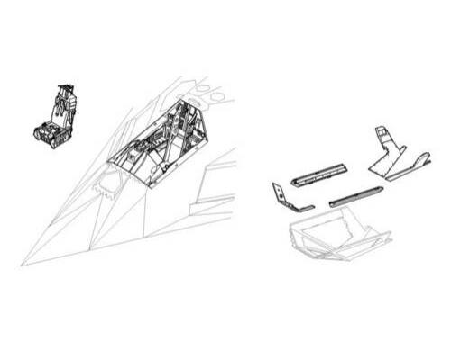 CMK F-117A - interior set for TAM 1:48 (4139)