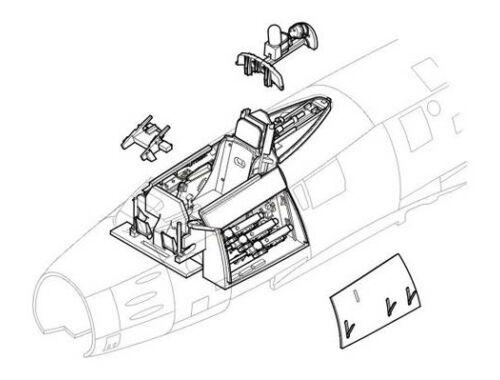 CMK F-86 Sabre - interior set for HAS 1:48 (4145)