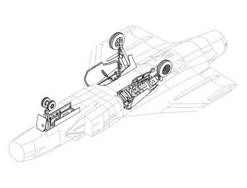 CMK JAS 39 Gripen - undercarriage set for ITA 1:48 (4149)