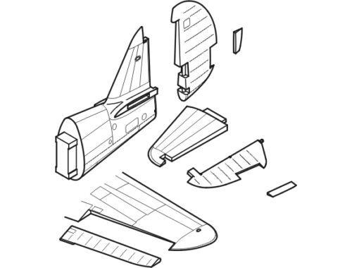 CMK P-40E Warhawk - control surfaces set for HAS 1:48 (4156)