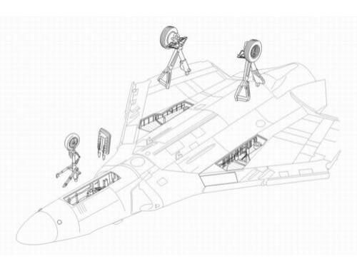 CMK F4D-1 Skyray - undercarriage set for TAM 1:48 (4162)