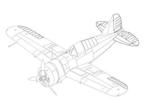 CMK Buffalo F2A-1/2/3 - control surfaces set for 1:48 (4168)