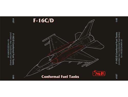 CMK F-16C Fast Pack – armament set for HAS 1:48 (4187)