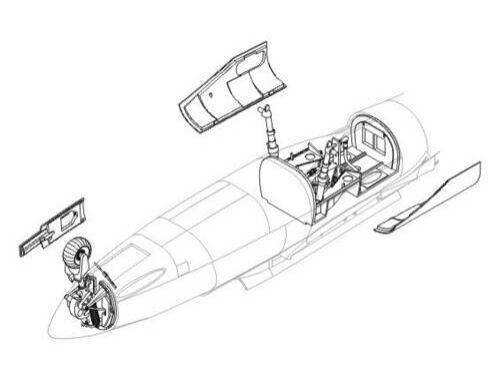 CMK He 162A-2 - undercarriage set for REV 1:32 (5011)