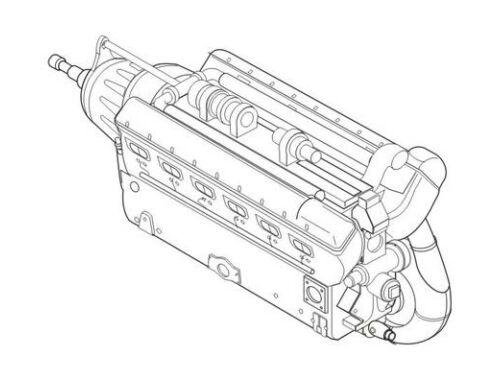 CMK Daimler-Benz DB 605 German WWII engine 1:32 (5018)