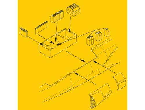 CMK F-104G/S Electronics and Ammo Boxes Set 1:32 (5100)