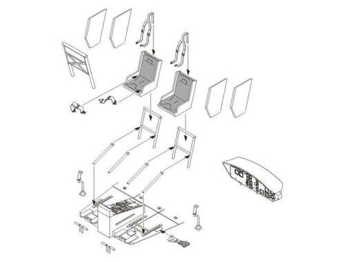 CMK UH-1D - Interior set for Drag. 1:35 (6005)