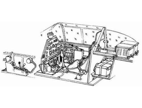 CMK P-51A Mustang - interior set for ITA and CON 1:72 (7001)