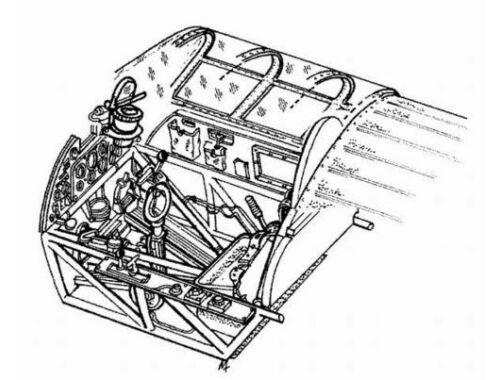 CMK Hurricane Mk.II - interior set for REV 1:72 (7010)