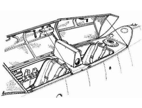 CMK Me 262B - interior set for SME/HEL 1:72 (7018)