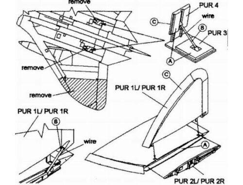 CMK F4D-1 - wing folding set for ACA 1:72 (7027)
