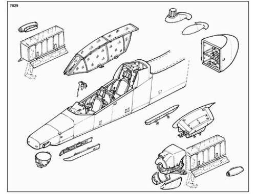 CMK OV-10D - conversion set for ACA 1:72 (7029)