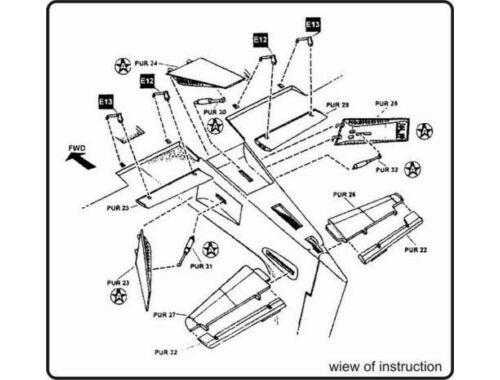 CMK A-1H Skyraider - exterior set for HAS 1:72 (7049)