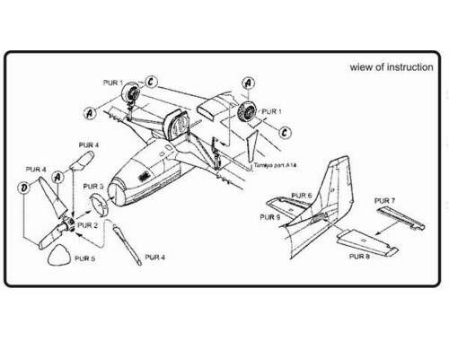 CMK P-51D - exterior set for TAM 1:72 (7065)