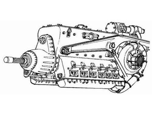 CMK DB-603 - German engine of WWII 1:72 (7066)