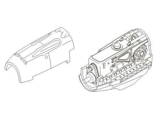 CMK Bf-109E - engine set for TAM (DB-601) 1:72 (7067)