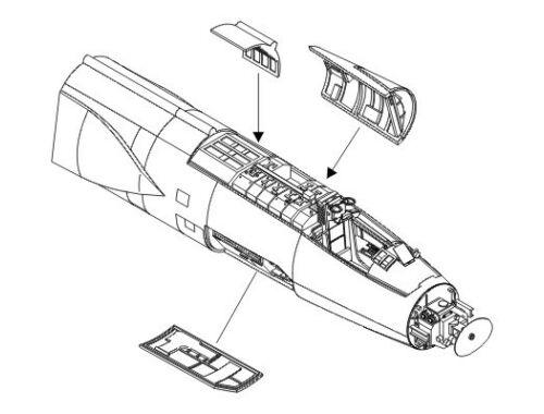 CMK F-104S/G - exterior set for HAS 1:72 (7071)