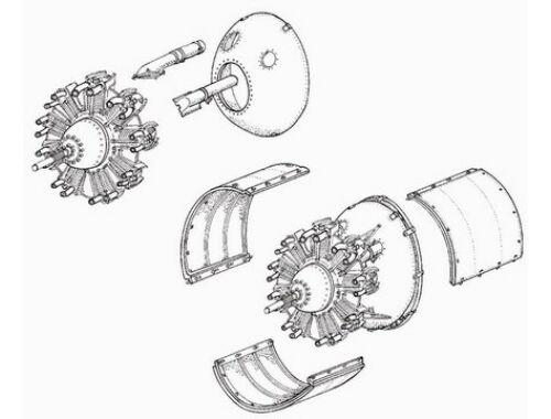 CMK Wellington Mk.I - engine set for MPM (Pegasus 1:72 (7072)