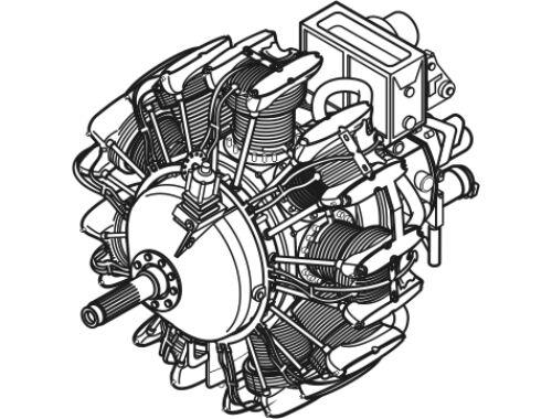CMK Wright 1820 - US engine of WWII 1:72 (7077)