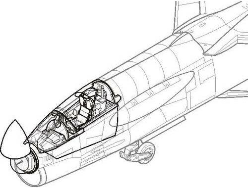 CMK F-8 Crusader - interior set for ACA 1:72 (7095)