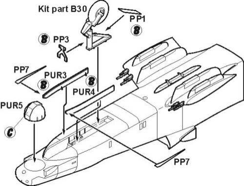 CMK OV-10D - undercarriage set for ACA 1:72 (7101)