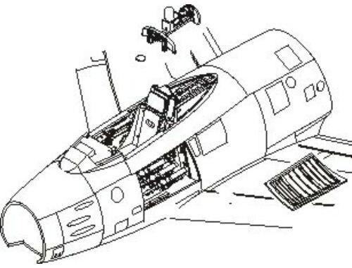 CMK F-86F Sabre - interior set for ACA 1:72 (7112)