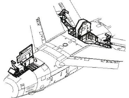 CMK F-86F Sabre - undercarriage set for ACA 1:72 (7113)