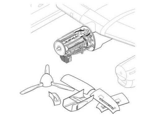 CMK Lancaster Mk.I/II - engine set for HAS 1:72 (7119)