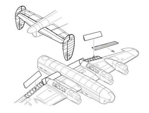 CMK Lancaster Mk.I/II - control surfaces set for 1:72 (7120)
