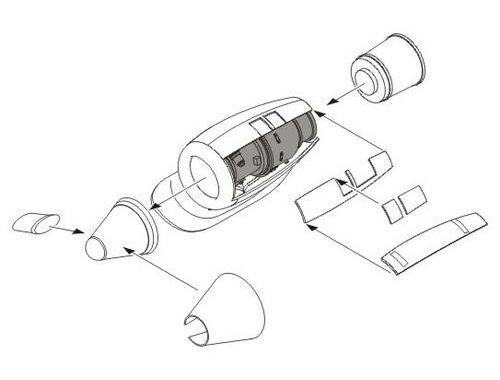 CMK CH-47 Chinook engine set for Italeri 1:72 (7161)